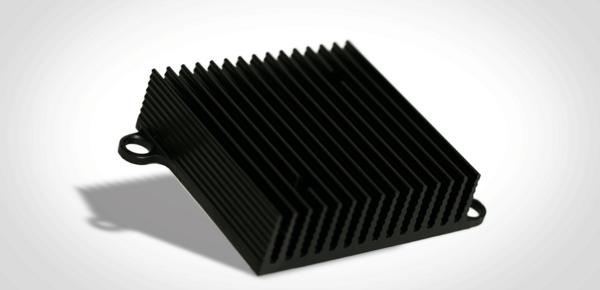 Kühlkörper schwarz eloxiert
